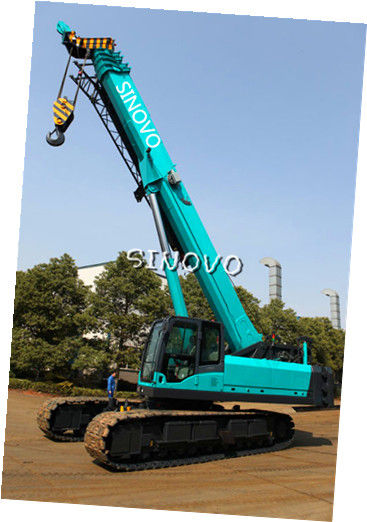 Telescopic Hydraulic Crawler Crane with Cummins Engine , 0 ~ 2.0 r/min Slewing speed