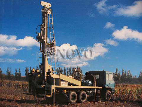 Highly Efficient Water Well Drilling Rig SIN600 105mm - 305mm